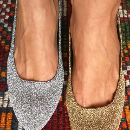 zapatos oro y plata Ana Pallares