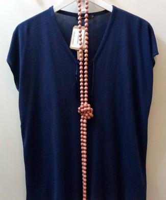MG Suéter viscosa azul marino