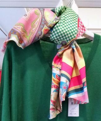 NShy Jersey oversize lana fina verde